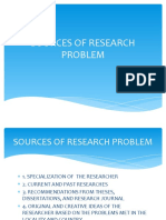 SOURCES OF RESEARCH PROBLEM