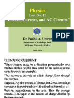 Lect. 11, AC, and Dc circuits