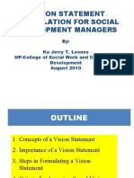 Vision Statement Formulation for Social Development Managers