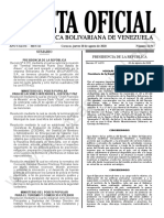 Gaceta Oficial 41.947 Sumario