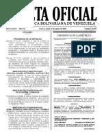 Gaceta Oficial 41.949 Sumario