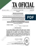 Gaceta Oficial 41.944 Sumario