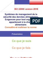Formation ISO 22000  Bramali