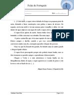 Português 3º ano  - O Segredo do Rio- Gramática 3