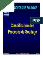 Classification des Procédés de Soudage - Couleur