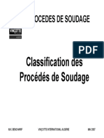 Classification des Procédés de Soudage