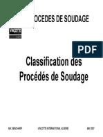 Classification des Procédés de Soudage
