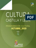 Programación Cultura Castilla y León octubre 2020