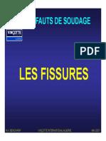 Defauts de Soudure - Fissures