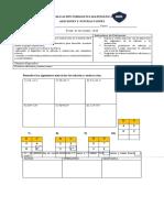 Evaluación formativa 3° básico, matemática.