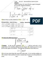 MAT130.5 [MtM] Handout #4 and #5 - Trigonometric Substitutions, Spring 2020.doc