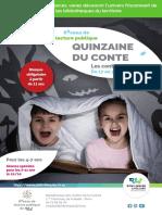 Flyer Quinzaine conte