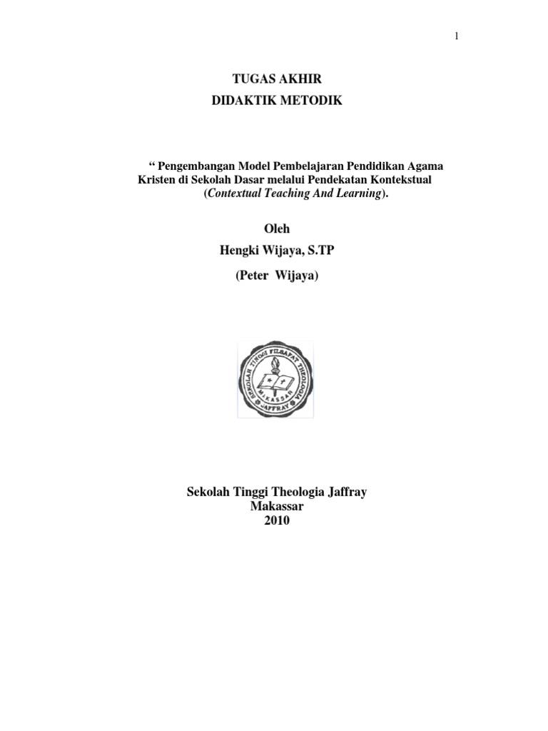 Metode Pembelajaran Kontekstual Pendidikan Agama Kristen