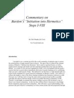 Commentary onBardons Initiation into Hermetics