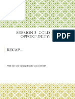 Session 3 Cold Opportunity SB1