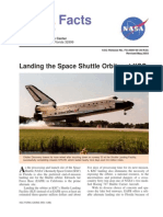 NASA Facts Landing the Space Shuttle Orbiter at KSC 2003