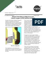 NASA Facts Liquid Oxygen (LO2) Feedline Bellows