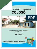 PDM COLOSO 2016-2019 Version final agosto 2016