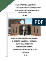 SILABO DE INVESTIGACION CRIMINAL