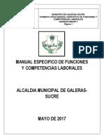 MANUAL DE FUNCIONES GALERAS.