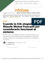 Cuando la CIA elogiaba al filósofo Michel Foucault por considerarlo funcional al sistema - Infobae