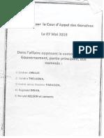 Document ( 117 pages) :Vladimir PARAISON aquitté suite à l'Appel rendu par la Cour d'Appel des Gonaives, le 7 mai 2019