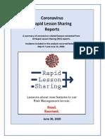 Coronavirus Lesson Sharing, 1st Ed