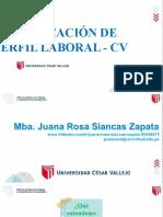 SESIÓN 4  - IDENTIFICACIÓN DE PERFIL LABORAL  Y CV JR
