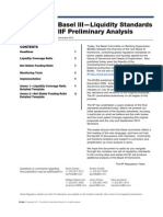 Basel III- Liquidity Standards IIF Preliminary Analysis