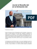 Importancia de La Filosofía Del Derecho en La Formación Del Abogado