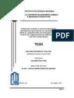 Tesis Propuesta para la certificación del sistema de gestión de la calidad (SGC) para el laboratorio de pruebas de una planta de fabricación de empaques de cartón corrugado.pdf