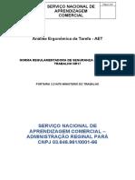 MODELO DE ANÁLISE ERGONÔMICA DA TAREFA