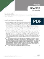 MUET Model Paper Reading