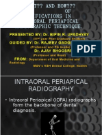 modifications in intreoral radiographic technique