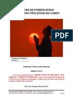 PRIERE DE PURIFICATION ET DE SANCTIFICATION DU CORPS (1)