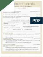 Resume for Blog