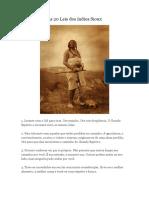 As 20 Leis dos indios Sioux