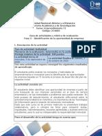 Guía de actividades y rúbrica de evaluación - Fase 2 - Identificación de la oportunidad de empresa.pdf