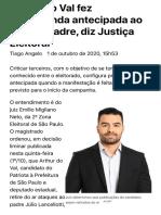 ConJur - Arthur do Val fez propaganda antecipada ao criticar padre, diz juiz