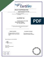 Certifire CF5138 français