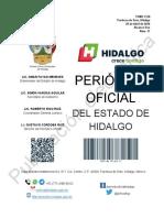 Periódico Oficial del Estado de Hidalgo 2020 28 de Abril
