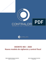 Presentación DECRETO 403 DEL 2020 REGULA AL 403 DEL 2019