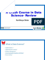 A  Crash Course in Data Science Review