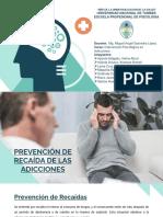 Prevencion de la recaida en adicciones