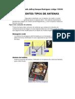 Diferentes tipos de antenas