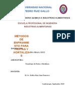 MÉTODOS DE ENFRIAMIENTO PARA FRUTAS Y HORTALIZAS