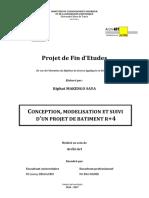 Conception, modélisation et suivi d'un projet de bâtiment R+4