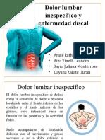 Dolor lumbar inespecífico y enfermedad discal..pptx