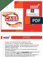 Case on JW Marriot - Hotels & Resorts