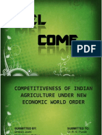 Measures of competitiveness in Indian Agriculture